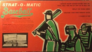 Strat-O-Matic Baseball Game from 1970s