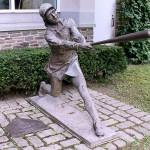 Women in Baseball Sculpture