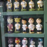 Bobbleheads in Cabinet