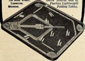 Vintage 1873 Baseball Tabletop Game
