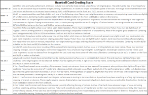 PSA Baseball Card Grading Scale