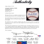 PSA letter of grading and authenticity